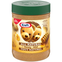 Kraft Only Peanuts All Natural Peanut Butter with Honey 750g
