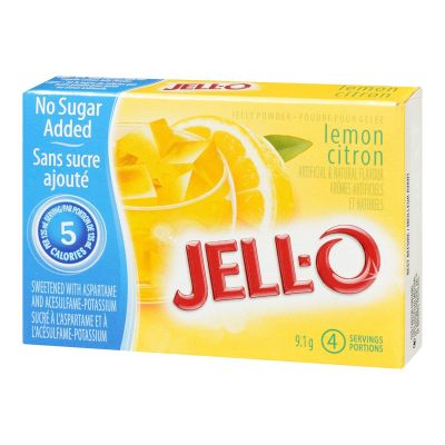 Jell-O Lemon Jelly Powder Light, Gelatin Mix