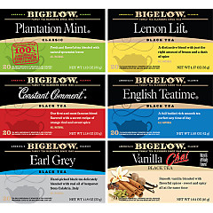 Mixed Case of 6 Bigelow Black Teas - Case of 6 boxes- total of 120 teabags