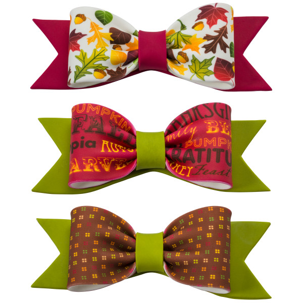 Fall Printed Gum Paste Bows