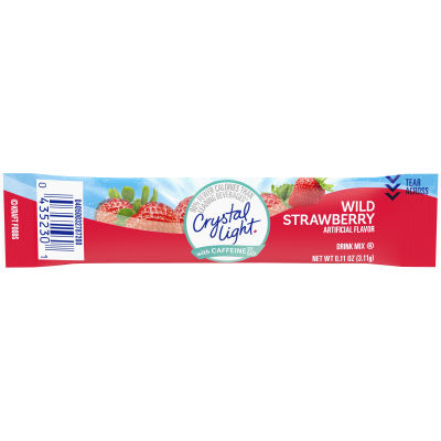 Crystal Light On-The-Go Wild Strawberry with Caffeine 0.11 oz Wrapper
