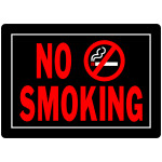 No Smoking Sign With Symbol With Boarder