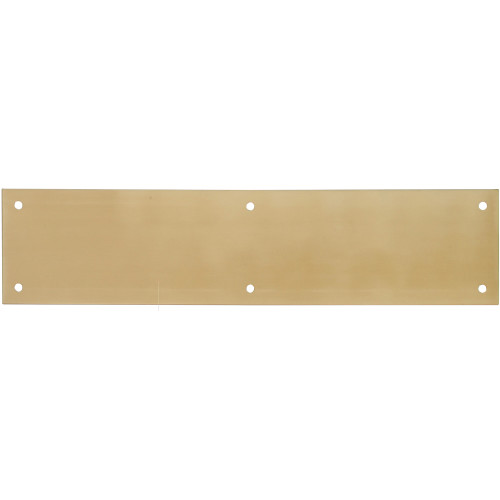 Hardware Essentials Brite Brass Push Plate 3-1/2