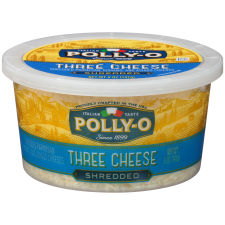 Polly-O Shredded Three Cheese Blend 5 oz Tub