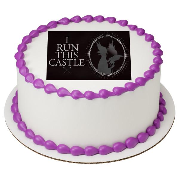 Maleficent I Run This Castle PhotoCake® Edible Image®