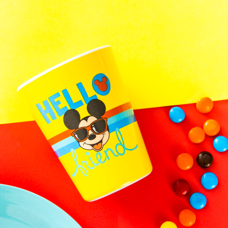Disney Plate, Bowl, Tumbler and Flatware Set, Rainbow Mickey Mouse, 5-piece set slideshow image 3