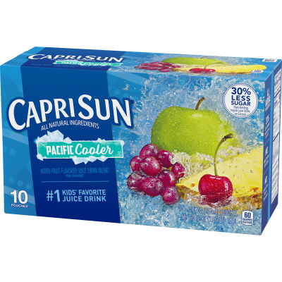 Capri Sun Pacific Cooler Mixed Fruit Flavored Juice Drink Blend 10 - 6 fl oz Pouches