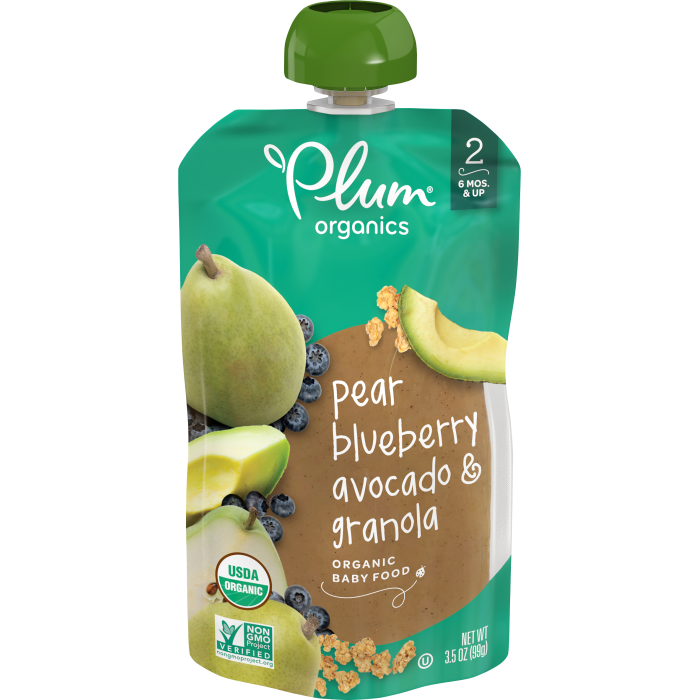 Pear, Blueberry, Avocado & Granola Baby Food