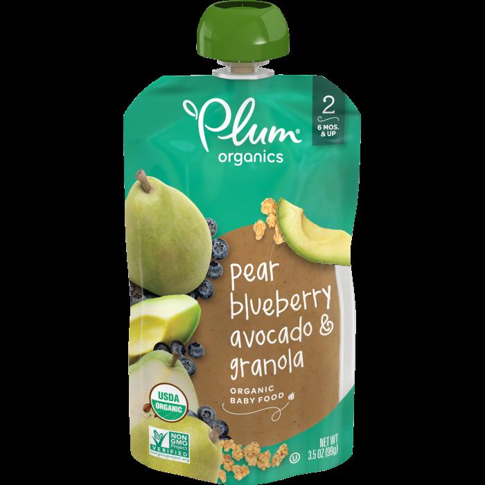Pear, Blueberry, Avocado & Granola Baby Food