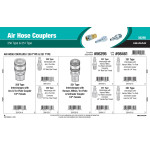 Air Hose Couplers Assortment (250 Type & 251 Type)