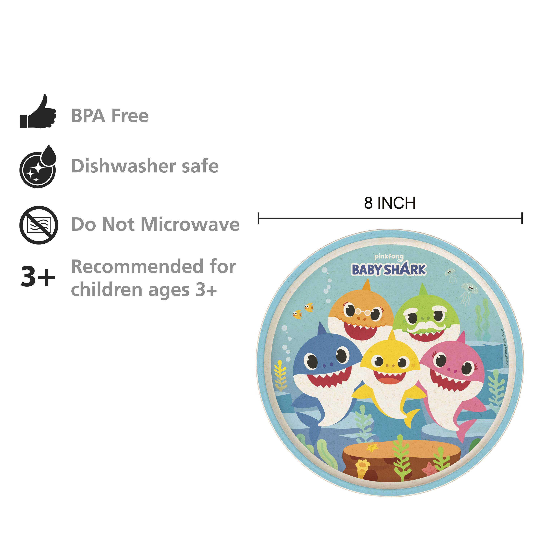 Pinkfong Kids 3-piece Dinnerware Set, Baby Shark, 3-piece set slideshow image 2