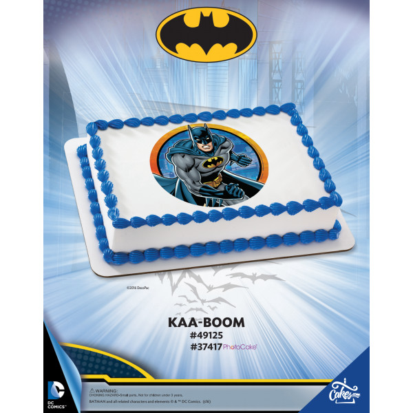 Batman KAA-BOOM PhotoCake®/Edible Image® The Magic of Cakes® Page