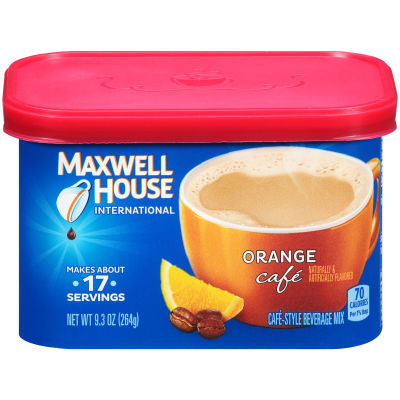 Maxwell House International Orange Cafe, 9.3 oz Canister