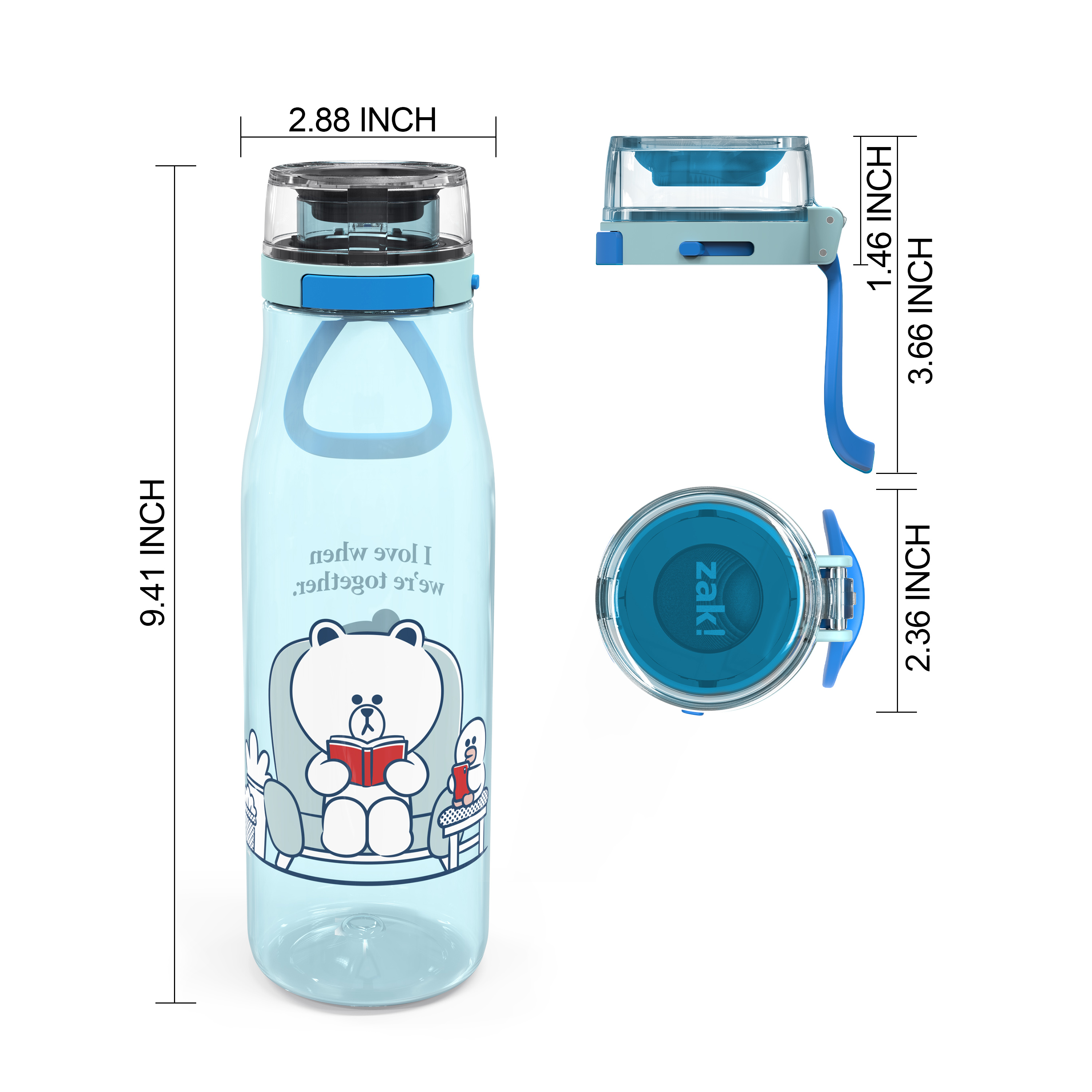 Line Friends 25 ounce Water Bottle, Brown and Sally slideshow image 7