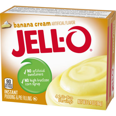 Jell-O Banana Cream Instant Pudding 3.4 oz Box