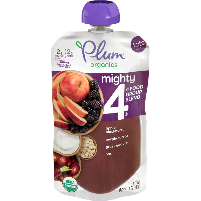 Blends Apple, Blackberry, Purple Carrot, Greek Yogurt & Oat Tots Pouch