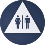 "Triangle and Circle Unisex Restroom Sign (12"")"