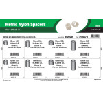 Metric Nylon Spacers Assortment (M10.4 & M12.8 Inner diameter)