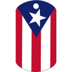Puerto Rico Large Military ID Quick-Tag