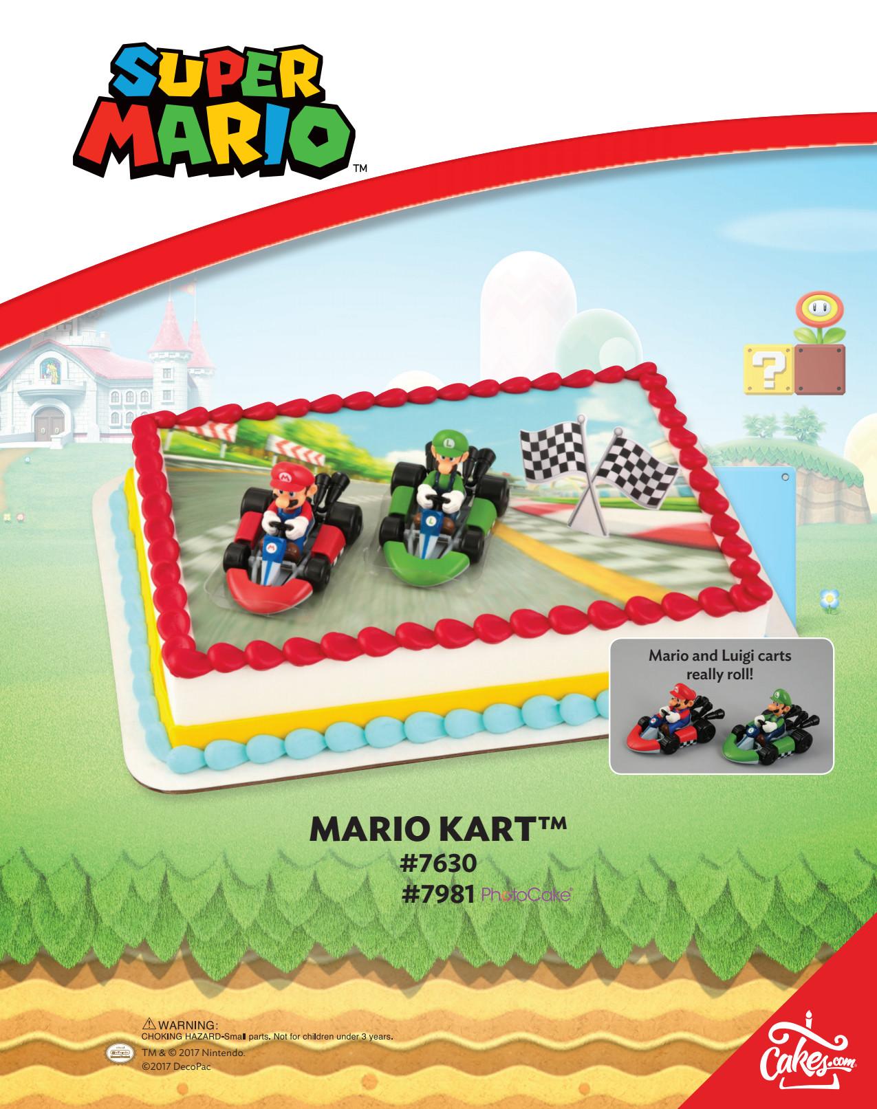 Super Mario MarioKarts PhotoCake® DecoSet® Background ...