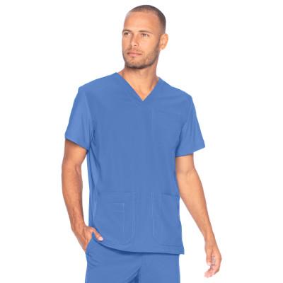 Urbane Performance Scrub Top for Men: 4 Pocket, Modern Tailored Fit, Extreme Stretch, Moisture-Wicking V-Neck Medical Scrubs 9152-