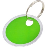 Colored Paper Tag Key Chains