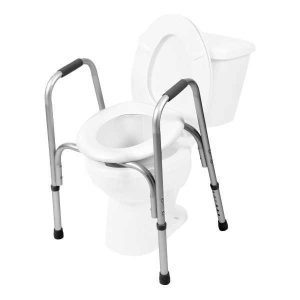 7007 Raised Toilet Seat with Safety Frame