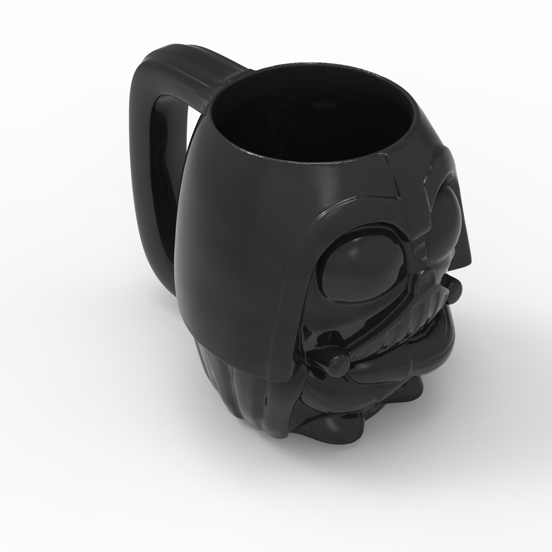 Star Wars 13 ounce Coffee Mug and Spoon, Darth Vader slideshow image 3