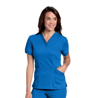 Urbane Ultimate 4 Pocket V-neck Scrub Top for Women: Modern Tailored Fit, Luxe Soft Stretch Fabric, Medical Scrubs 9576-