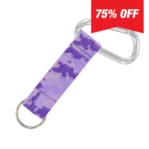 Carabiner Strap (Purple Camo) 6 Pack