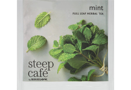 steep Café Mint Herbal Tea - Box of  50 pyramid tea bags