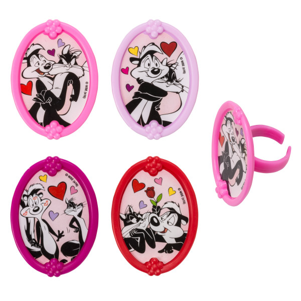 Looney Tunes™ Pepe & Penelope L'Amour Cupcake Rings