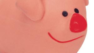 "Li'l Pals 3"" Latex Pig Dog Toy"