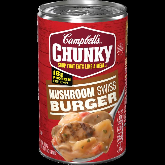Mushroom Swiss Burger Soup