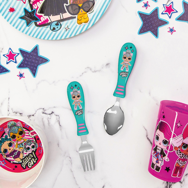 LOL Surprise Dinnerware Set, Glitter ON!, 5-piece set slideshow image 4