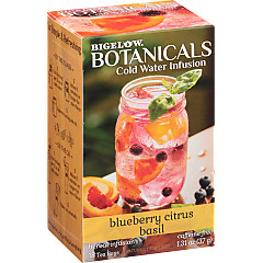 Blueberry Citrus Basil Cold Water Infusion Caffeine Free Herbal Tea -Case of 6 Boxes