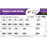 """Thimbles & Cable Ferrules Assortment (1/16"""" Thru 1/4"""")"""