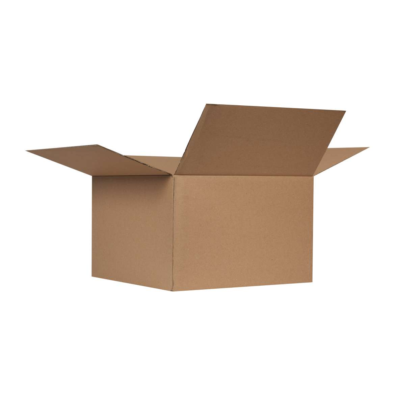 Duck® Brand Kraft Box - Brown, 24 in. x 18 in. x 18 in. Image