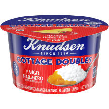 Knudsen Cottage Cheese Doubles Mango Habanero Topping 4.7 oz Tub