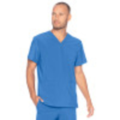 Urbane Performance Scrub Top for Men: 3 Pocket, Modern Tailored Fit, Extreme Stretch, Moisture Wicking V-Neck Medical Scrubs 9152-