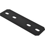 Hardware Essentials Black Heavy Duty Mending Plates