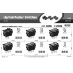 Lighted Rocker Switches Assortment (12 Volts)