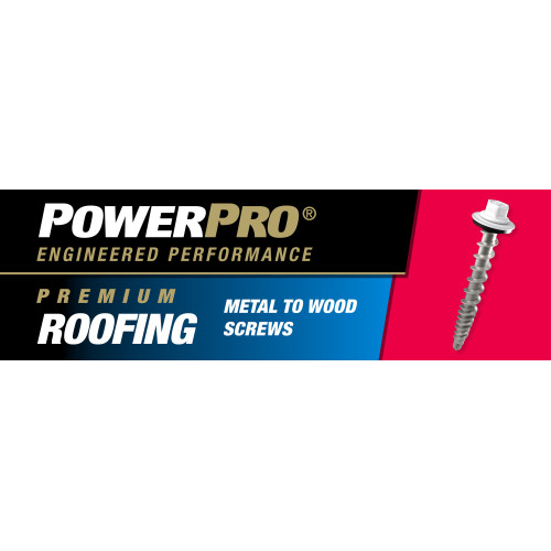 Power Pro Black Self-Drilling Metal-to-Wood Roofing Screws (#10 x 1
