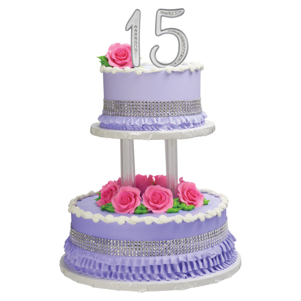 """Separated 2-Tier Round 6"""" & 10"""" Cake Structure Set"""