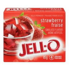 Jell-O Strawberry Jelly Powder, Gelatin Mix