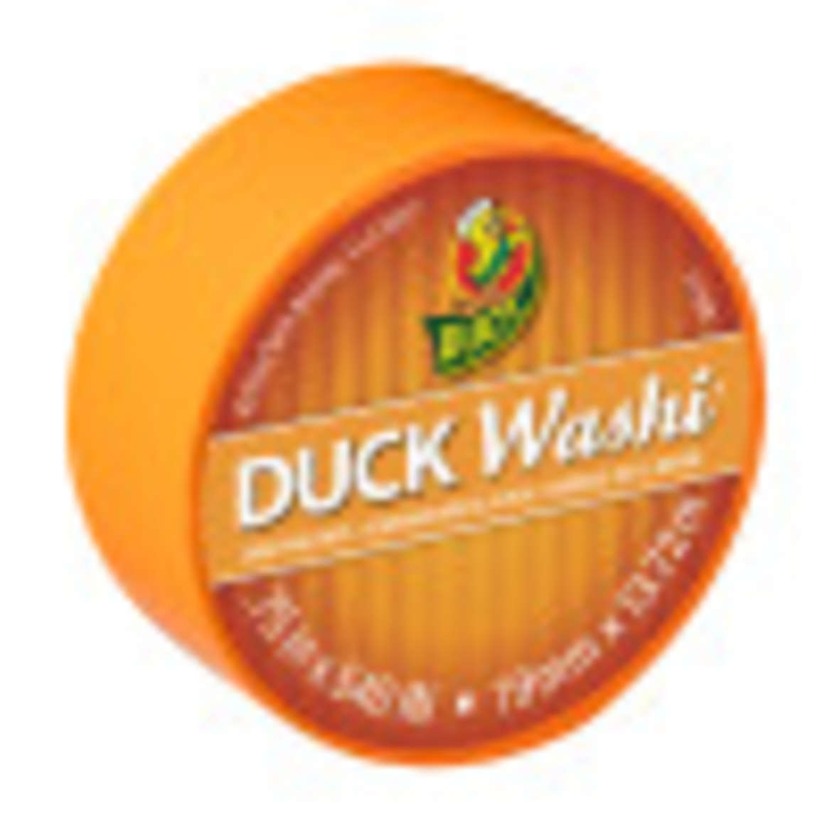 Duck Washi® Crafting Tape - Tangerine, 0.75 in. X 15 yd. Image
