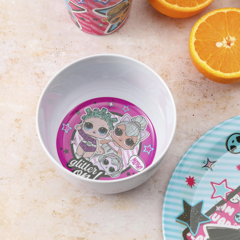 LOL Surprise Dinnerware Set, Glitter ON!, 5-piece set slideshow image 2