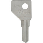 Harlock Hickory Home and Office Key Blank