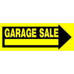 "Arrow Garage Sale Sign, 9"" x 24"""