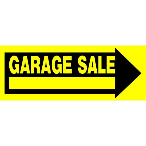 Arrow Garage Sale Sign, 9